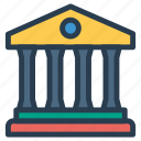 bank, building, finance, money, savings icon