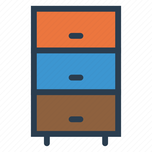 boxes, cabinet, drawers, interior icon