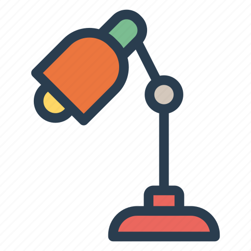 bright, lamp, light, study icon