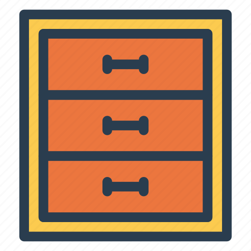 boxes, cabinets, drawer, interior icon