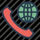 call, global, international, world