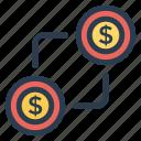 cash, dollar, exchange, money, payment, price
