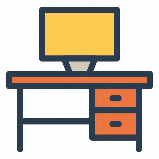 cabinet, computer, desk, office icon