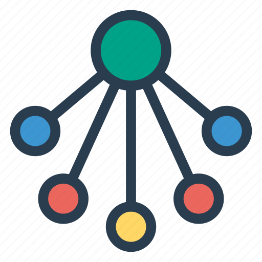 communication, computing, connection, network, relation, sharing icon