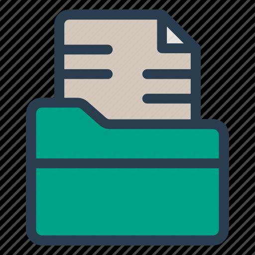 document, file, folder, office icon