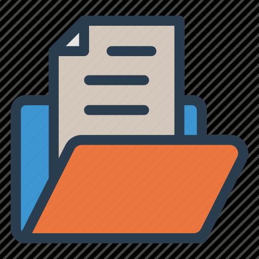 document, file, folder, record icon