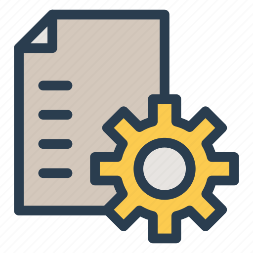config, cv, document, file, manage, settings icon