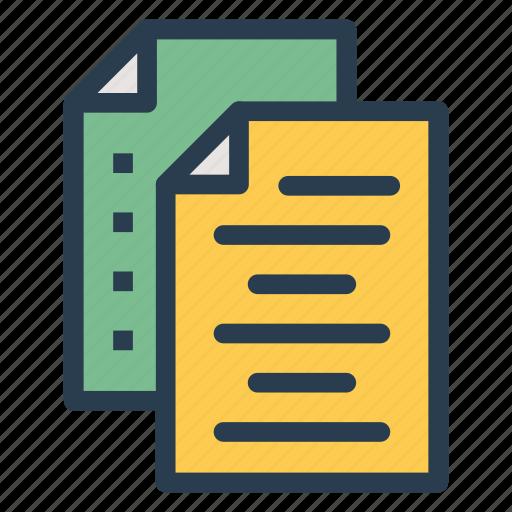 documents, information, records, storage icon
