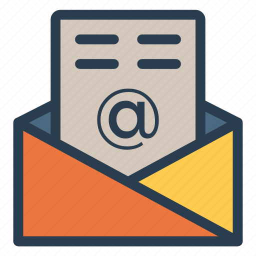 email, letter, message, open icon