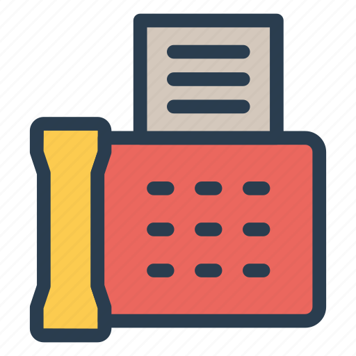 device, fax, mail, phone icon
