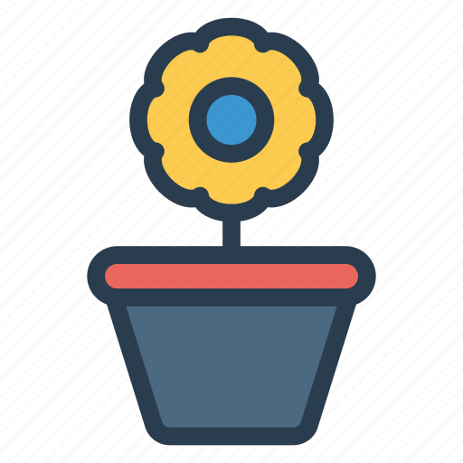 flower, growth, nature, plant icon