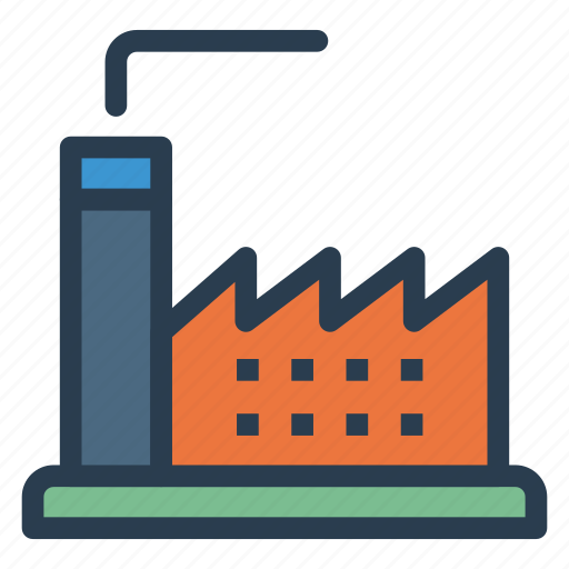 building, factory, industry, plant icon