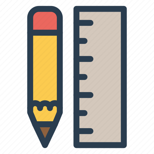 design, drawing, pencil, ruler icon
