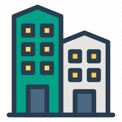 building, estate, office, property, real icon