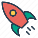 business, launch, rocket, startup, transport icon