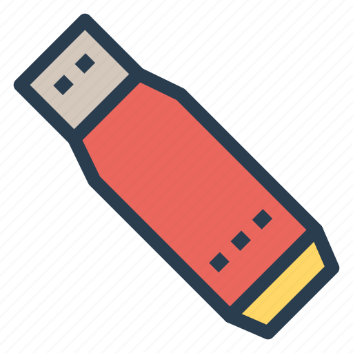 flash, memory, portable, usb icon
