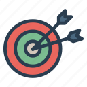aim, fosuc, goal, success, target icon