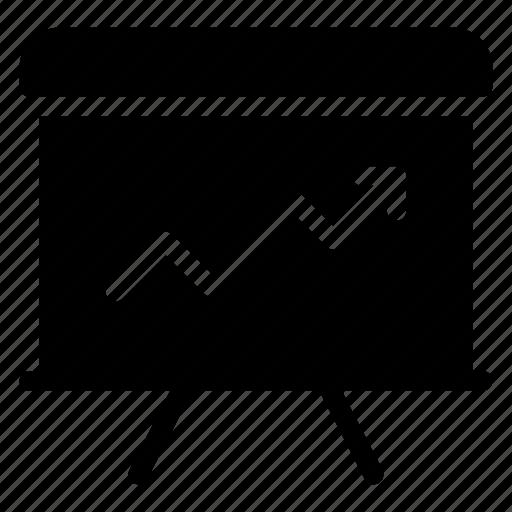 analysis, board, graph, presentation icon