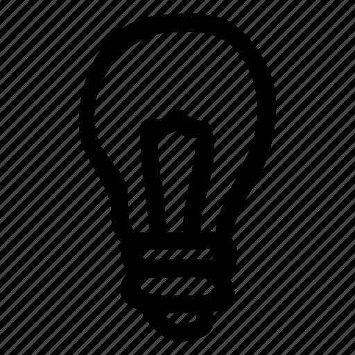 bright, bulb, idea, lamp, light icon