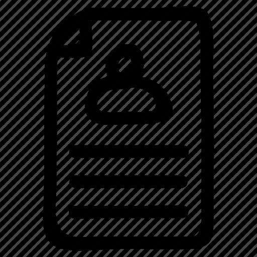 avatar, file, profile, user icon