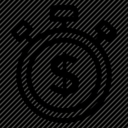 alarm, alert, attention, dollar icon