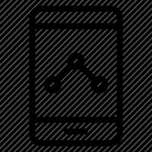 analytics, mobile, phone, report, statistics icon