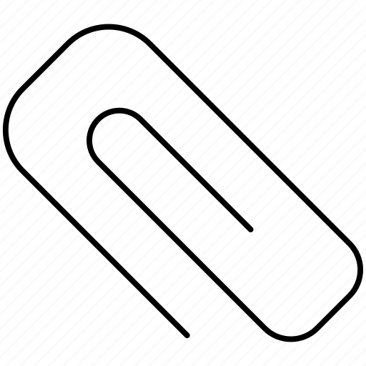 attach, clip, pin, stationary icon