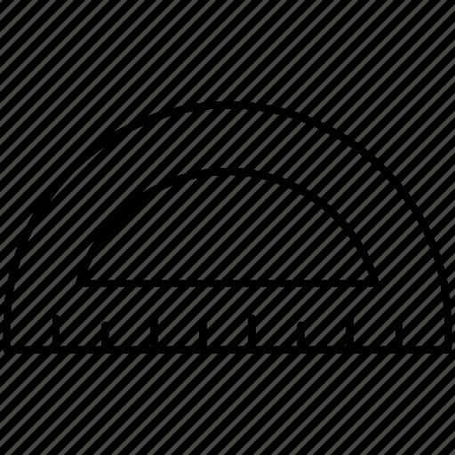 geometry, measure, office, protractor icon