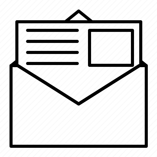 communication, e-mail, email, letter, mail, paper, write icon