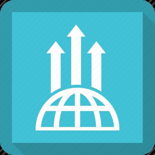 bar, earth, growth bar icon