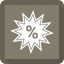finance, percentage icon