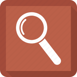 magnifying glass, search, zoom icon