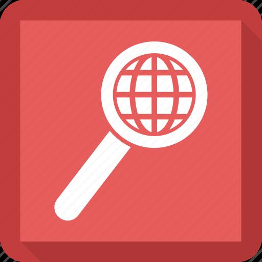earth, magnifi, search icon