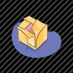 box, delivery, inbox, move, retail