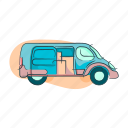 delivery, transportation, trasnport, van, vehicle icon