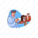 email, inbox, mail, newsletter icon