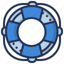 buoy, life, ring, safety icon