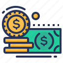 banknote, cash, coins, money icon