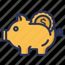 bank, money, piggy, savings