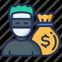 insurance, money, sack, theft