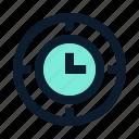 business, clock, corporation, office, seo, tool icon