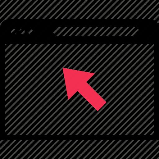 arrow, browser, click icon