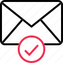 check, email, envelope, mark icon