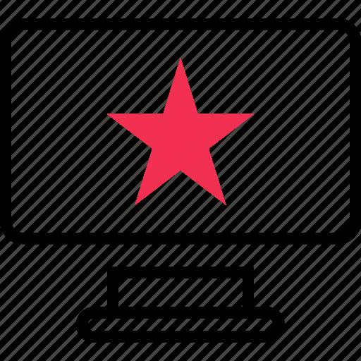 computer, favorite, star icon