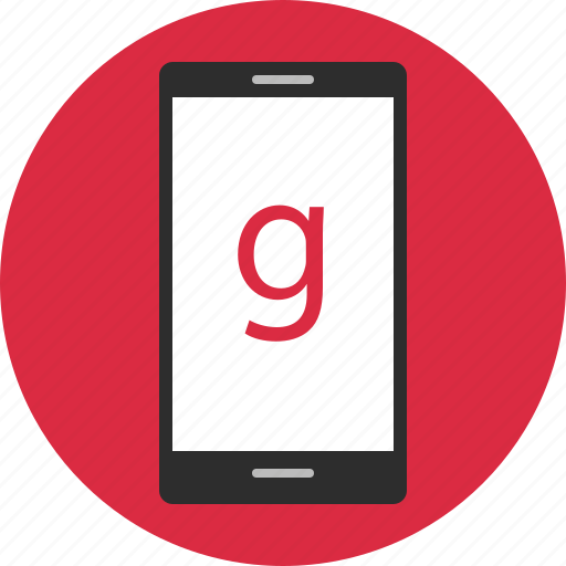 cell, g, google, phone icon