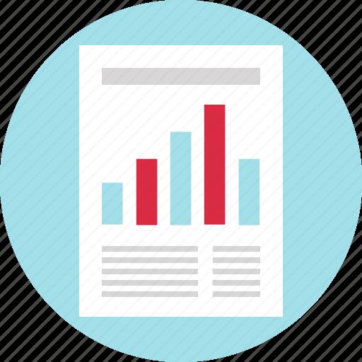 analyze, chart, document, paper icon