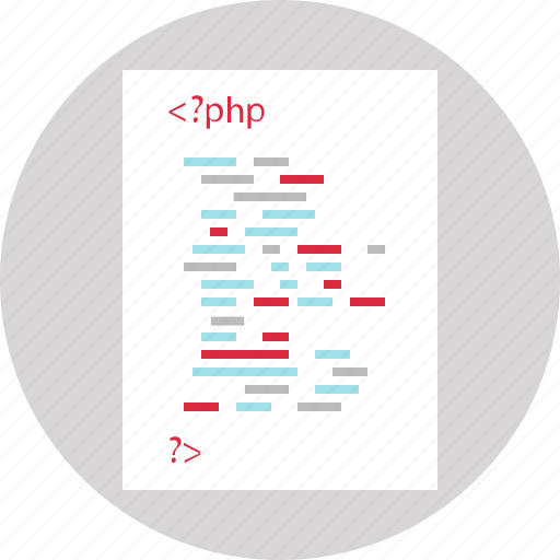 code, dveloping, php, script icon