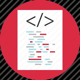 code, coding, program, script icon