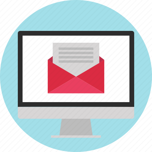 computer, email, mail, send icon