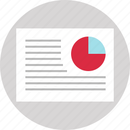 chart, circle, document, paper, pie icon